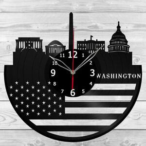 Vinyl Clock Washington Vinyl Record Wall Clock Home Art Decor Handmade 5986