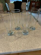 4 Glass Beer Steines 24 Oz Crate & Barrel