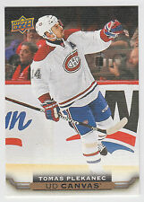 TOMAS PLEKANEC 2015-16 Upper Deck Series 2 Hockey Canvas #C168 Canadiens