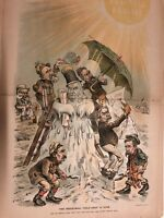 1894 Puck Centerfold -The protectionists won't survive with the Tariffs now gone