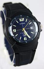 Casio MW-600F-2AV Analog Watch Blue 10 Year Battery Glows Display with Date New