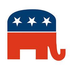 Republican Party GOP Elephant Vinyl Decal / Sticker ** 5 Sizes **