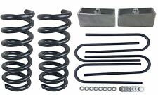 "3/2 Drop Kit For Chevy S10 2wd V6 3"" Front Springs 2"" Aluminum Blocks & Ubolts"