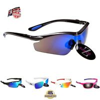 Rayzor Sports Wrap Sunglasses UV400 AntiGlare Mens Ladies Women Polarised rrp£49