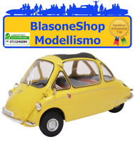 Modellino Diecast Oxford Heinkel kabin Giallo Micro Car 1:18
