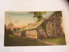ANTIQUE POSTCARD HOME SWEET HOME & THE OLD WINDMILL EAST HAMPTON NY HAND COLOR