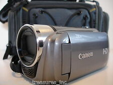 Canon HF R200 HD Camcorder Software Manual AC HDMI AV USB Cables Battery Bag