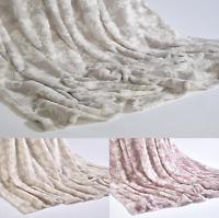 Floral Super Soft Plush Throw Sofa Bed Fleece Mink Blanket