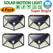 100 LED Solar Wall Light PIR Motion Sensor Outdoor Garden Pathway Yard Lamp