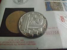 * raramente! medalla de plata suiza 1968 aprox. 5g (900) aprox. 40mm en numisblat. (alb11)