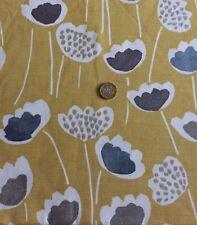 Pantalla de prestigio clara tela azafrán hecho a mano/mostaza 20cm Floral Scandi