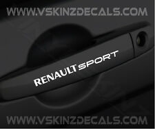 RENAULT Sport Premium Door Handle Decals Stickers Megane Laguna Clio Scenic F1 i
