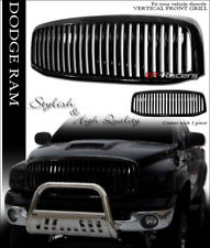 BLACK VERTICAL FRONT HOOD BUMPER GRILL GRILLE GUARD 1PC 2006-2008/2009 DODGE RAM
