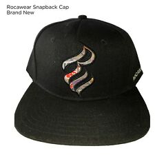 ROCAWEAR MENS BOYS SNAPBACK CAPS FLAT PEAK BASEBALL HIP HOP TRUCKERS CASUAL BLKR
