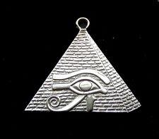 Sterling Silver Charm - Pyramid and Udjat Eye  /Royal Nameplate