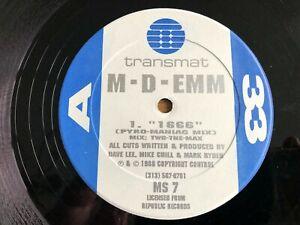 "M-D-Emm - 1666 / Get Acidic 12"" US 12"" 1988 NM Vinyl Acid House Transmat MS 7"