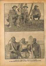 Sammies Soldiers US Army Signal Corps Genie Noir Bataille  WWI 1918 ILLUSTRATION