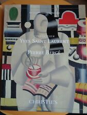 COLLECTION YVES SAINT LAURENT P. BERGE T.I CATALOGUE ART IMPRESSIONNISTE MODERNE