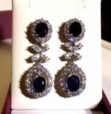Simulated Oval White Gold Filled Costume Earrings