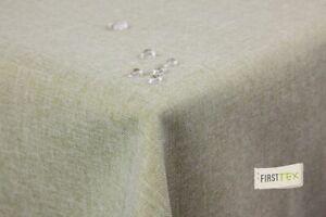 Tischdecke Leinenoptik Lotuseffekt mit gerader Saumkante160x260 eckig hellgrün