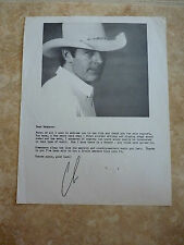 Chris LeDoux B&W Photo Fan Club Sexy Printed Signature Letter