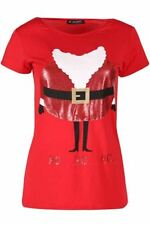 Unbranded Holiday Crew Neck Tops & Shirts for Women