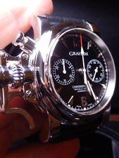 Graham Chronofighter 43 Steel, Column Wheel movement, original design, rare $10k