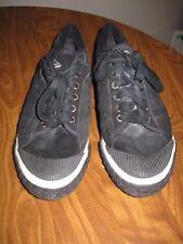 Reef Tennis Shoes Black Suede Men's 10