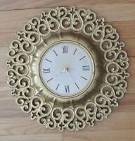Syroco Hollywood Regency  Battery Wall Clock for Repair