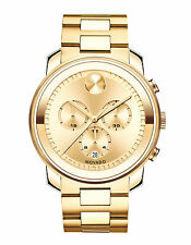 MOVADO BOLD 3600278 Large Gold Stainless Steel Date Chronograph 44mm Men's Watch