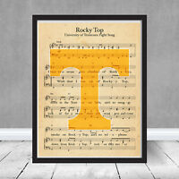 Framed University of Tennessee Volunteers Logo Rocky Top Fight Song Vols Gift