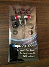 brand new music gear noise reducing earbuds pink/silver/black,free shipping