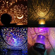 Romantic LED Starry Night Sky Projector Lamp Kids Star light Cosmos Master PVH