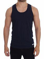 NWT DOLCE & GABBANA D&G Underwear Blue Cotton Sleeveless T-shirt Top IT3 / US XS