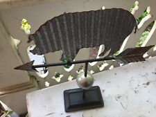 Rustic Farm Pig Weathervane Tabletop Primitive Farm Decor New