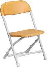 Flash Furniture Kids Yellow Plastic Folding Chair New