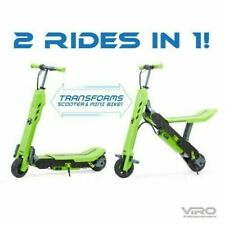 NEW! Green Viro Rides Vega Transforming 2-in-1 Electric Scooter and Mini Bike