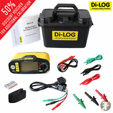 Di-Log DL9118 TESTER MULTIFUNZIONE installazione calibrato con accessori & Custodia