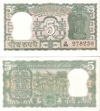 India 5 Rupees (1970) Pick 56a, Uncirculated *Rare*