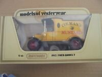 MATCHBOX MODELS OF YESTERYEAR - Y-12 1912 FORD MODEL T - COLMAN'S MUSTARD