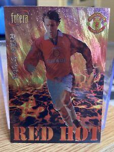 Manchester Utd Futera 1998 RED HOT Foil Card Ryan Giggs  RH3 Ltd Edition