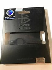 POWER BALANCE Wristband Bracelet Black Size XS 16.0 cm AUTHENTIC Silicone PB NEW