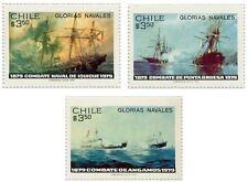 Chile 1979 #943-945 Glorias Navales Navy Shipsl MNH
