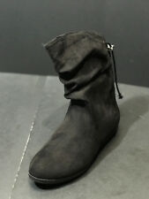 RAMPAGE Womens Blinkie Black Mid Calf Pull On Boots Shoes Size US 6 M New