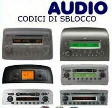 Codice Sblocco Radio Fiat Panda.Codice Sblocco Autoradio In Vendita Auto Ricambi Ebay