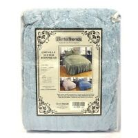 Better Trends Chenille Tufted Bedspread in Blue - Twin