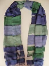 United Colors of Benetton ladies scarf  blue & green striped NEW womens stripes