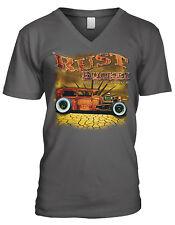 Rust Bucket Auto Group Hot Rod Car Garage Old Classic Road Men's V-Neck T-Shirt