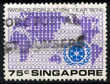 Singapore 1974 SG#240, 75c World Population Day Used #D47013