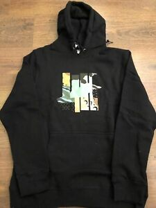 BNWT MENS UNDEFEATED PATCHWORK 5 STRIKE CLASSIC LOGO HOODIE PULLOVER BLACK SMALL